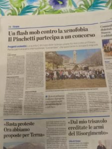 Flash mob contro la xenofobia.